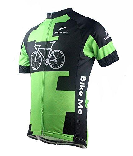 Xinzechen Men's Cycling Sports Jersey Short Sleeve Bicycle World Size XXXL