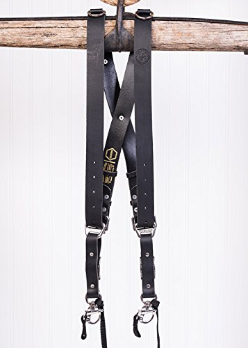 HoldFast Gear Money Maker Water Buffalo Leather Large Two-Camera Harness, Black by HoldFast Gear