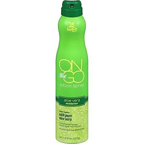 Fruit of the Earth On the Go Aloe Vera Lotion Spray, 8 oz