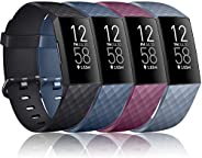Vancle Bands Compatible with Fitbit Charge 4 / Charge 3 / Charge 3 SE Bands, Classic Soft Replacement Wristban