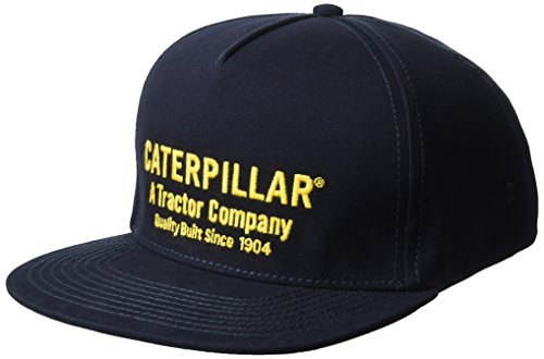 Caterpillar Men's Hobson Flat Bill Cap, Navy, One Size