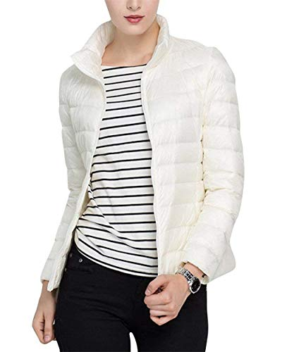 Blouson Assez Femme Fermeture À Outerwear Décontractée Fit Avec Trendy Glissière Doudoune Slim Manches Unicolore Martinad Longues Quilting Élégant Printemps Fashion xz5wBtnR
