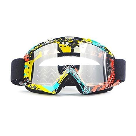 Zhankun Motorcycle Rider Wear X600 Gafas Protectoras de Motocross Gafas de esquí para Actividades al Aire Libre Riding Riding - Rojo y Amarillo + ...