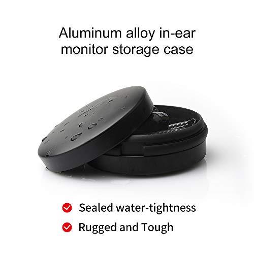 Universal Earbuds Case Mini Storage Hard Earphone Case Protective Waterproof Aluminum Alloy Housing for TRN V80 V10 V20 V60 V90 KZ AS10 Portable Travel Carrying Cases (No Logo)