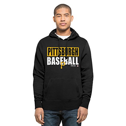 [MLB Pittsburgh Pirates Men's '47 Headline Pullover Hood, Jet Black, Large] (Pirate Coat For Sale)