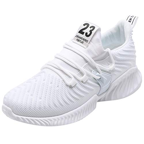 iHPH7 Cushioning Trail Running Shoe,Casual Breathable Sneakers,Sneakers,Dress Shoes,Prom Shoes,Athletic Shoes,Sports Shoes,Running Shoe,Hiking Shoe,Water Shoes (42,White)]()