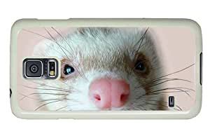 Hipster Samsung Galaxy S5 Case carrying ferret PC White for Samsung S5