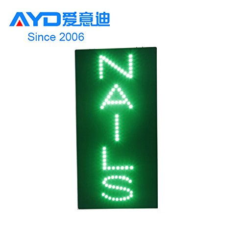 LED Nails Open Light Sign Super Bright Electric Advertising Message Display Board for Business Shop Store Window Bedroom 19 x 10 inches DongGuan LED Electronics Co. Ltd