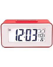 Eliky Digitale led-wekker studenthorloges met week snooze thermometer klok elektronische tafelkalender LCD Desk Timer