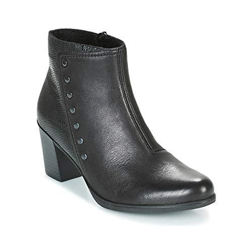 Rieker Y8957-00 Ladies Leather Ankle Boots Black Black