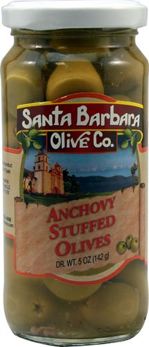 Santa Barbara Olive Anchovy Stuffed Olives, 5 oz