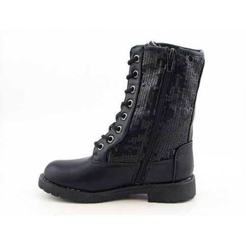 Me Too Gunstock Boots Casual Casual Boots Black Youth Kids Girls - stylishcombatboots.com