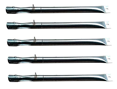Pro Bass Grill - Hongso SBB411 (5-Pack) Universal Replacement Stainless Steel Pipe Tube Burner for Broilmate, Charmglow, Grill Pro, Master Forge, Perfect Flame Lowes, Presidents Choice, Sterling, Lowes Model Grills