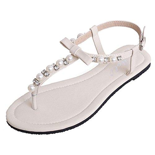 Vestir Para Blanco Sintético Material Mujer Sandalias Zamme De Cnpshoe140b Zwq66Yt