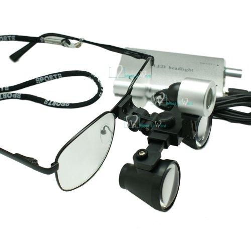 Dental Lab Surgical Medical Binocular Eye Loupe Glass 2.5x Amplification With Led - Medical Eye Glasses