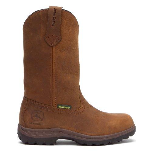 John Deere jd3204Bottes 25,4cm Veste imperméable Wellington travail bottes - marron - marron, 38 EU