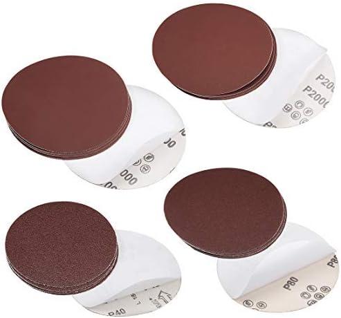 - 6-Inch Psa Sanding Discs, Self-Adhesive 120 Grit Sandpaper, 5 Pieces Grain