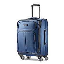 Samsonite Leverage LTE Softside Expandable Luggage with Spinner Wheels, Poseidon Blue