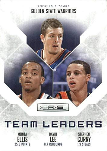 2010-11 Panini Rookies & Stars Team Leaders - Steph Stephen Curry/Monta Ellis & David Lee - 2nd Year Card - Golden State Warriors NBA Basketball Card #9
