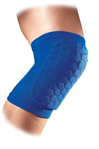 Mcdavid Hexpad Knee/Shin/Elbow Royal Sports Pad , Royal Blue, (Mcdavid Football Elbow Sleeve)