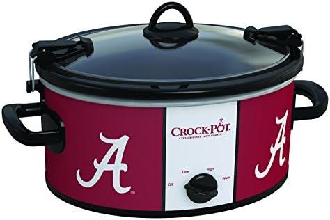 Crock-Pot Alabama Crimson Tide Collegiate 6-Quart Cook Carry Slow Cooker