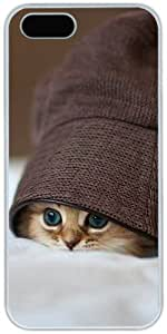 Cute Kittens Hats Retro Vintage Apple iPhone 6 4.7 6 4.7 Case, iPhone 6 4.7 Hard Shell White Cover Cases by iCustomonline
