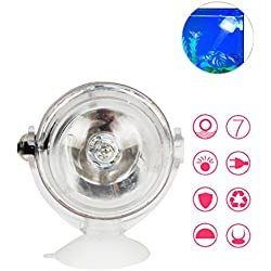 Umiwe LED Aquarium Lights, Amphibious Waterproof Spotlights Submersible Underwater Aquarium Spot Light 180-Degree Rotatable Decorative Fish Tank Lamp