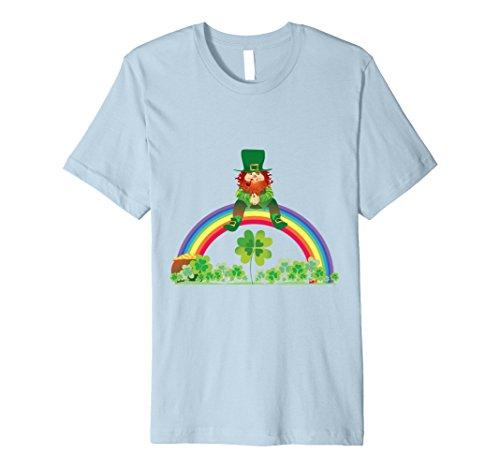 Men's St Patricks Day Rainbow Leprechaun T-Shirt Men Girl...