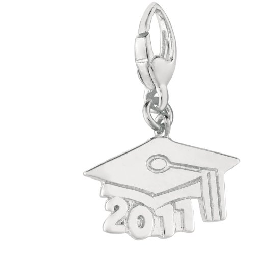 Sterling silver GRADUATION CAP 2011 (Charm) 2011 Graduation Charm