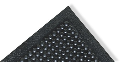 "NoTrax Rubber 447 Comfort-Eze Anti-Fatigue Drainage Mat, for Wet Areas, 24"" Width x 36"" Length x 3/8"" Thickness, Black"