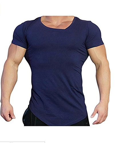 Coofandy Mens Bodybuilding Muscle Training Short Sleeve gym Workout Fitness T shirt