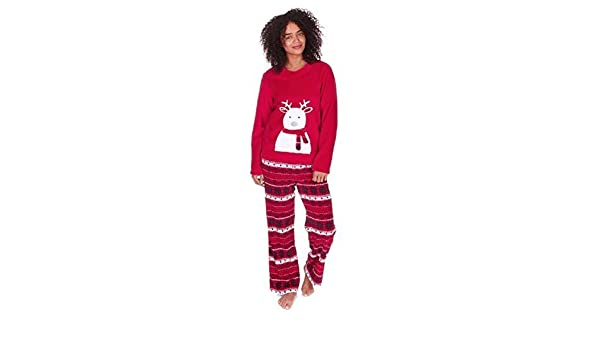 Para Mujer Navidad / Polar Invierno Set Pijama - Rojo Reno, Large: Amazon.es: Ropa y accesorios