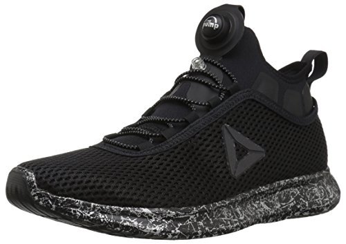 Reebok Running Pumps (Reebok Men's Pump Plus Night Sneaker, Black/Silver Met/Running Bla, 9 M US)