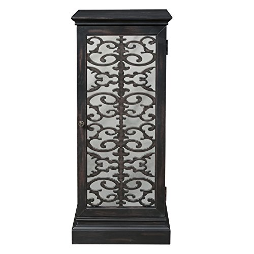 Pulaski Intricate Mirrored Wood Wine Cabinet ()