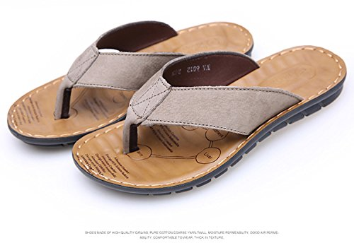 Casual, Conforto, Moda, Estate, Gli Uomini Le Pantofole, Infradito, Spiaggia Dei Sandali,Khaki,Eu42,