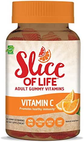 Hero Nutritionals | Slice of Life | Adult Gummy Vitamins | Vitamin C | 250 mg Per Serving | Essential Nutrients | Dietary Supplement | Promotes Healthy Immunity| Non-GMO & Gluten Free | 60 Count