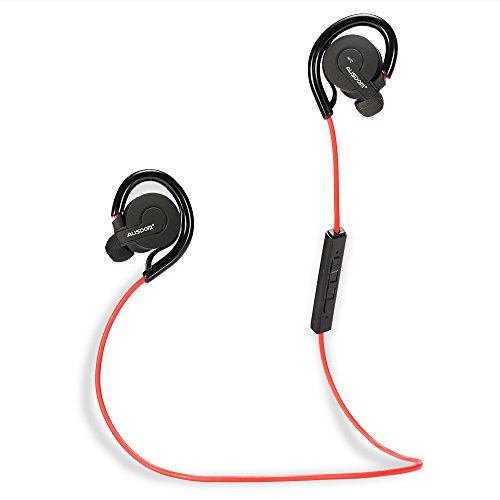 AUSDOM® S04 NFC Wireless Stereo Sweatproof Jogger, Running, Sport In-ear Headphones Earbuds Earphone, Built-in Microphone Noise-isolating Mic Hands-free Calling for iphone 6, 6 Plus, 5 5c 5s 4s ipad, iPod, iTouch, LG G2, Samsung Galaxy S5 S4 S3 Note 3 MP3, MP4 and Other Bluetooth Enabled Devices Android Cell Phones Smartphone Tablet PC