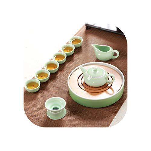 Tea Set Celadon Teapot Set Tea Wood Home,2