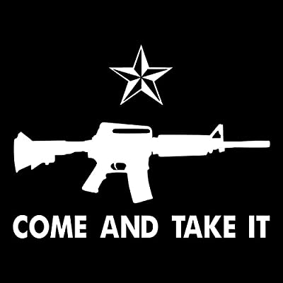 Come and Take It Vinyl Decal Sticker | Cars Trucks Vans SUVs Windows Walls Cups Laptops | White | 7 Inch | KCD2433: Automotive