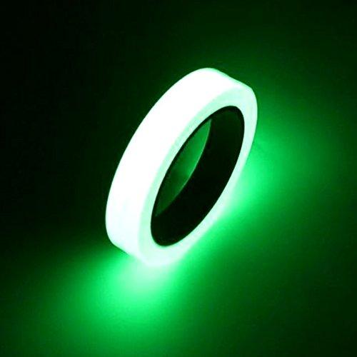Glow Dark - 10m 10mm Luminou Tape Self Adhesive Warning Night Vision Glow Dark Safety Security Home Decoration - Label Fence Pary Gummed Palisade - 1PCs