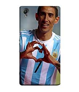 ColorKing Football Dimaria Argentina 02 Multi Color shell case cover for Sony Xperia Z1