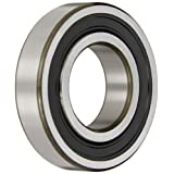 SKF 6208-2RS1/C3 Radial Bearing, Single Row, Deep Groove Design, ABEC 1 Precision, Double Sealed, Contact, C3 Clearance, Standard Cage, 40mm Bore, 80mm OD, 18mm Width
