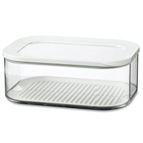 Rosti Mepal Modula 2L Rectangular Cheese Storage Box Airtight Lid (Pack of 2)