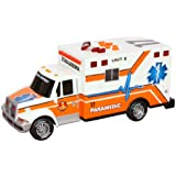 """Toy State 14"""" Rush And Rescue Police And Fire - Ambulance (Colors May Vary)"""