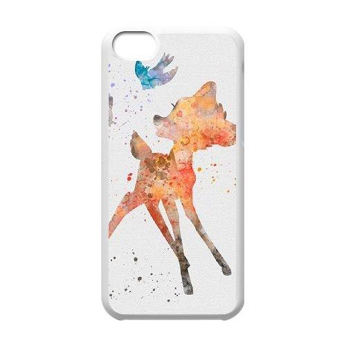 Bambi coque iPhone 5C Housse Blanc téléphone portable couverture de cas coque EBDOBCKCO10864