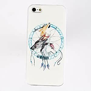 Punk Fox Pluma Dream Catcher Patrón TPU caso suave para el iPhone 5/5S , Multicolor