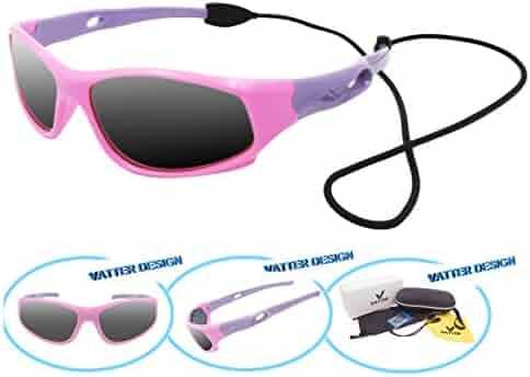 120c33520794 VATTER TR90 Unbreakable Polarized Sport Sunglasses For Kids Boys Girls Youth