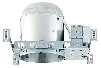 NICOR Lighting 6-inch 18-Watt Fluorescent Recessed Housing with Electronic Ballast (17007AEBM18)