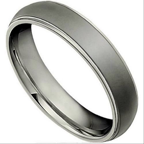 5mm Titanium Satin Black Comfort Fit Band, Size 6 by The Men's Jewelry Store