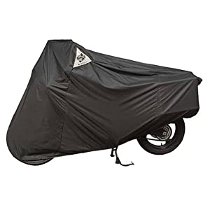 Dowco Guardian WeatherAll Plus Indoor/Outdoor Motorcycle Cover - Lifetime Limited Warranty - Reflective - Waterproof - UV Protection - Heat Safe - Moisture Guard Vent - Black - Sportbike [ 50124-00 ]